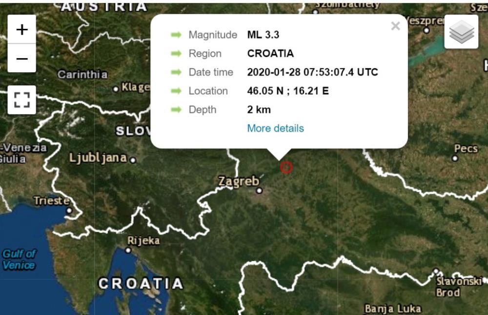 Jutrosnji Se Potres Osjetio I Na Podrucju Prigorja