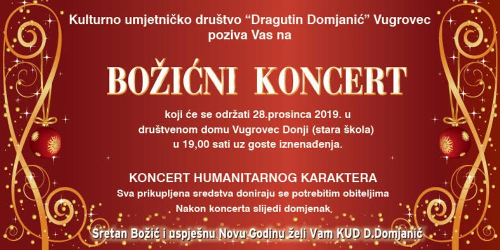 Bozicni Koncert Kud A Dragutin Domjanic Vugrovec